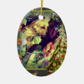 Sonhos do ornamento do Oval de Toyland do Natal