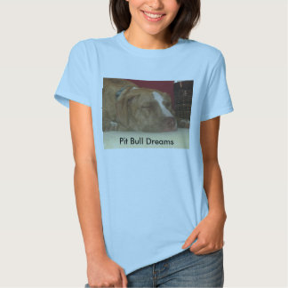 Sonhos do pitbull t-shirt