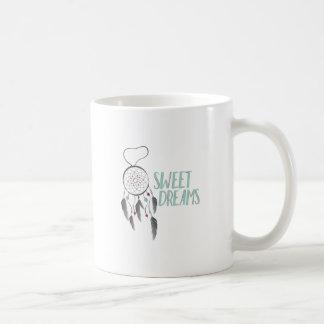 Sonhos doces caneca de café
