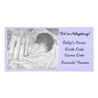 Sonhos doces do anúncio da adopção cartão com foto