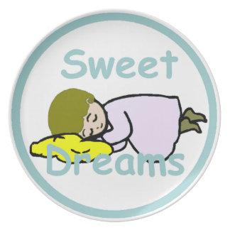 Sonhos doces louças de jantar