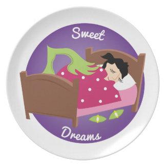 Sonhos doces prato