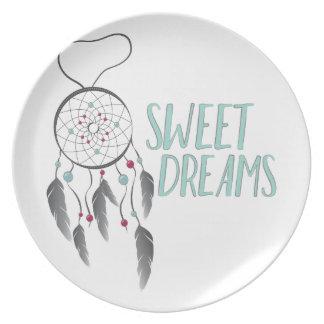 Sonhos doces prato de festa