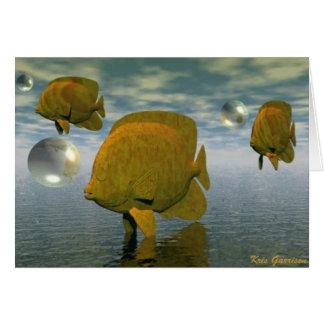 Sonhos dos peixes cartão