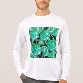 Sonhos esmeraldas do cetim - trevo irlandês t-shirt