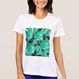 Sonhos esmeraldas do cetim - trevo irlandês tshirt