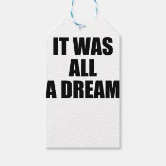 sonhos etiqueta para presente