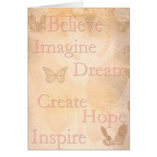 Sonhos futuros cartão comemorativo