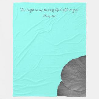Sonhos havaianos em preto e branco cobertor de velo