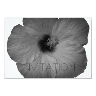 Sonhos havaianos em preto e branco convite 8.89 x 12.7cm
