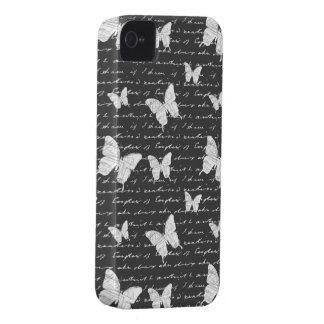 Sonhos pretos & brancos da borboleta capinha iPhone 4