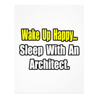 Sono com um arquiteto panfleto