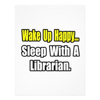Sono com um bibliotecário panfletos coloridos