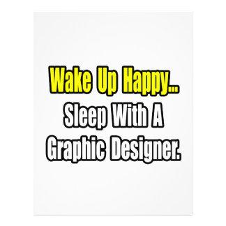 Sono com um designer gráfico panfleto