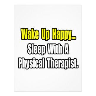 Sono com um fisioterapeuta modelos de panfleto