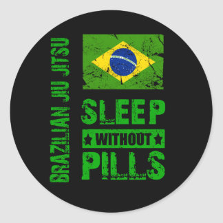 Sono de Jiu Jitsu do brasileiro sem etiqueta dos Adesivo Em Formato Redondo