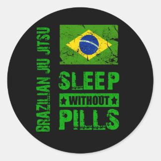 Sono de Jiu Jitsu do brasileiro sem etiqueta dos c Adesivo