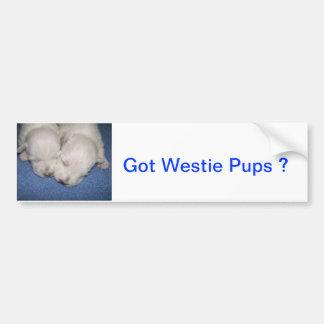 Sono dos filhotes de cachorro de Westie Adesivos