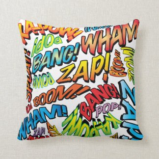 Sons da banda desenhada do pop art travesseiros