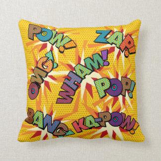 Sons do pop art da banda desenhada almofada