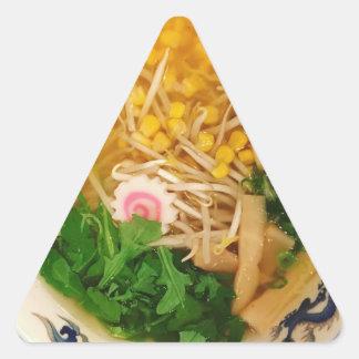Sopa de macarronete dos Ramen da carne de porco Adesivo Triangular