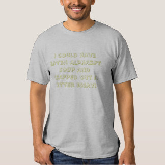 Sopa do alfabeto t-shirt
