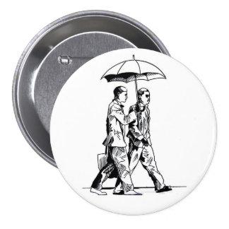 Sopro D. Com guarda-chuva (botão) Bóton Redondo 7.62cm