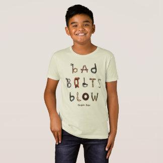 Sopro mau dos parafusos - camisa orgânica de T