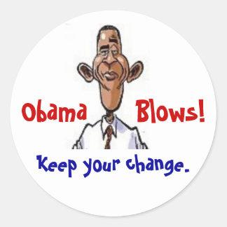Sopros de Obama! Adesivo Redondo