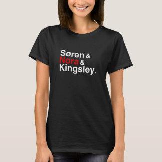 Søren & Nora & Kingsley (preto) Camiseta