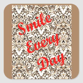 Sorri cada dia adesivo quadrado