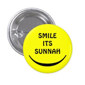 sorri seu botão do sunnah bóton redondo 2.54cm
