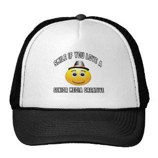 sorria se você ama os meios superiores criativos boné