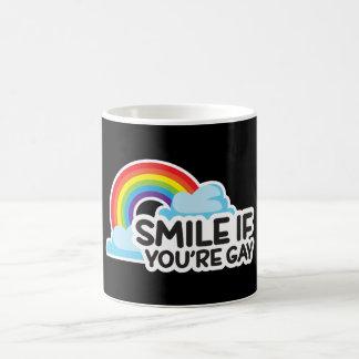 Sorria se você é orgulho alegre do arco-íris LGBT Caneca De Café