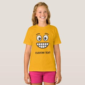 Sorrindo a cara com olhos abertos camiseta