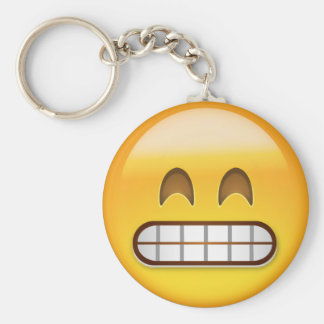 Sorrindo a cara com olhos de sorriso Emoji Chaveiro