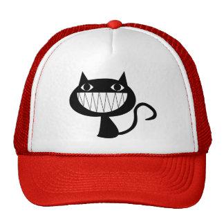 Sorrindo o chapéu do camionista do gato boné