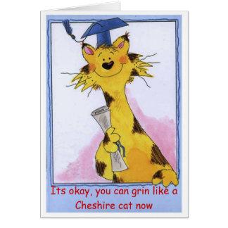 Sorrir forçadamente do gato de Cheshire - cartão