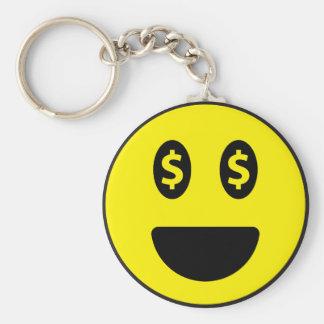 """Sorriso 2,25"""" chaveiro básico do botão"""