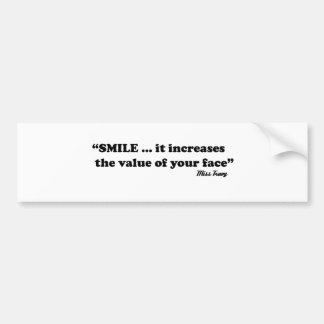 sorriso adesivo para carro