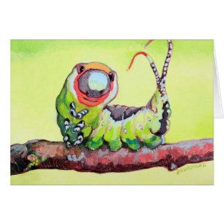 Sorriso adorável pouco inseto cartão comemorativo