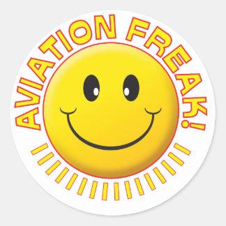 Sorriso arrepiante da aviação adesivo