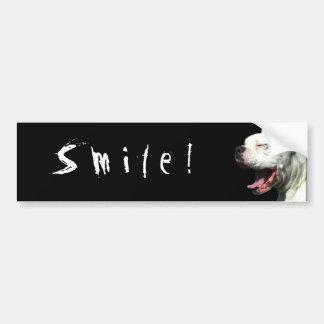 Sorriso! autocolante no vidro traseiro branco do p adesivo para carro