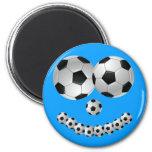 Sorriso azul do futebol imas