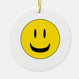 sorriso bonito ornamento de cerâmica redondo