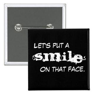 Sorriso Bóton Quadrado 5.08cm