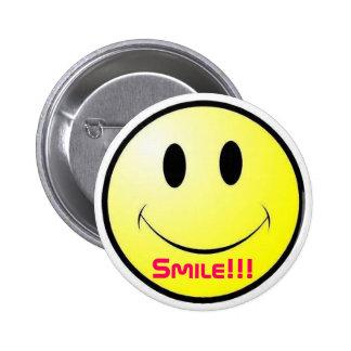 Sorriso!!! Botão Bóton Redondo 5.08cm