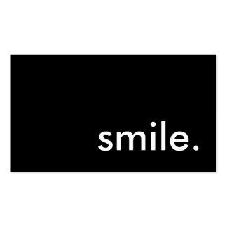 sorriso cartão de visita