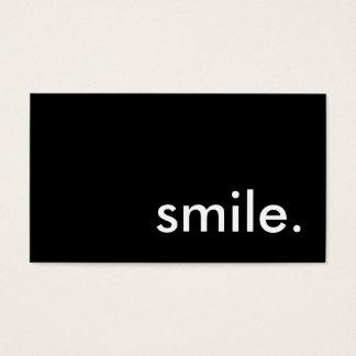 sorriso cartão de visitas