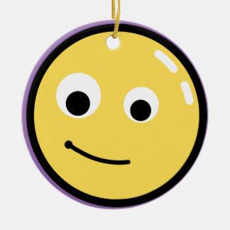 Sorriso da cara do círculo ornamento de cerâmica redondo